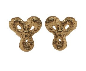 18ct Gold Vermeil Little Lace Stud Earrings