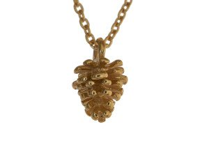 18ct Gold Vermeil Pine Cone Necklace