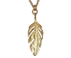 18ct Gold Vermeil Feather Necklace