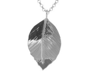 Sterling Silver Small Beech Leaf Pendant