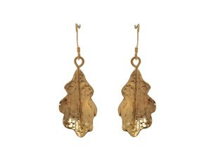 Sterling Silver & Yellow Gold Vermeil Oak Leaf Earrings