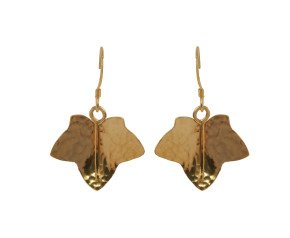 Sterling Silver & Yellow Gold Vermeil Ivy Leaf Earrings