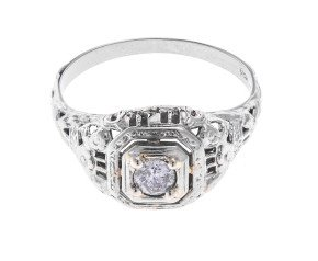 Vintage 0.15ct Diamond Solitaire Ring