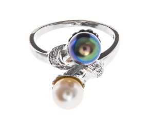 Tahitian & Akoya Pearl Cross Over Ring