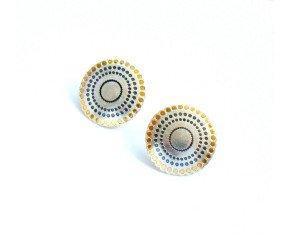 Sterling Silver Mandala Small Studs