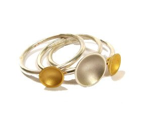 Sterling Silver & Gold Vermeil Target Stacking Rings