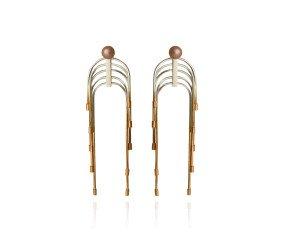 Sterling Silver & Gold Vermeil Pink Pearl Interchangeable Stud & Drop Earrings