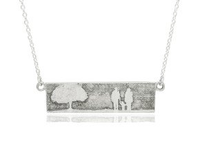 Sterling Silver Family of Three & Tree Necklace
