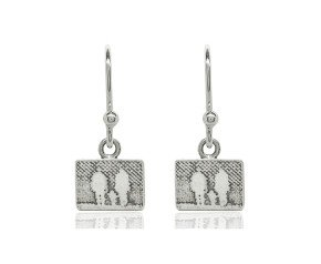Sterling Silver Family of Three Drop Earrings