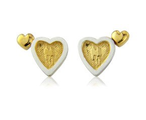 Sterling Silver Heart to Heart Earrings