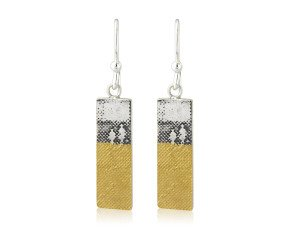 Sterling Silver Footprints In The Sand Earrings
