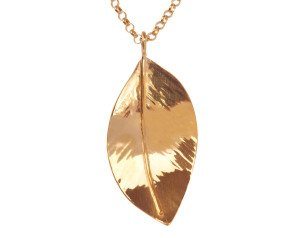Sterling Silver & Rose Gold Vermeil Large Wild Apple Leaf Pendant