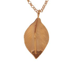 Sterling Silver & Rose Gold Vermeil Small Wild Apple Leaf Pendant