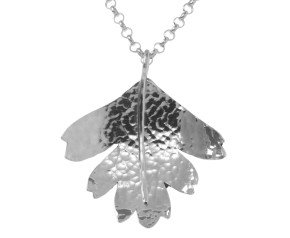 Sterling Silver Hawthorn Small Leaf Pendant