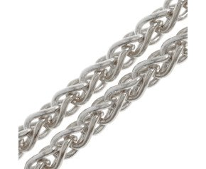 9ct White Gold Spiga Chain