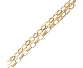 18ct Yellow Gold Maxibel Filed Belcher Chain Necklace