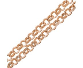 18ct Rose Gold Baby Belcher Chain