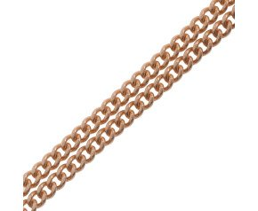 18ct Rose Gold Filed Curb Chain