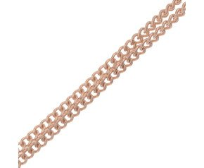 18ct Rose Gold Curb Chain