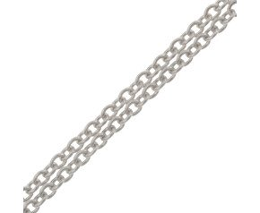 9ct White Gold Trace Chain