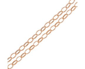 9ct Rose Gold Oval Link Belcher Chain