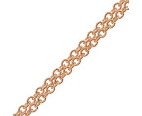18ct Rose Gold Close Link Trace Chain