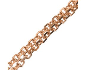 18ct Rose Gold Close Link Filed Trace Chain