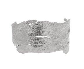 Sterling Silver Bark Cuff