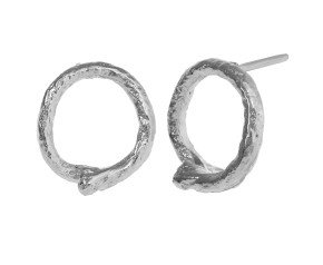 Sterling Silver Looped String Studs