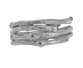 Sterling Silver Wide Twig Ring