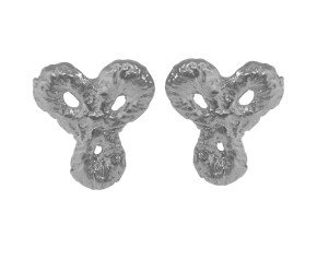 Sterling Silver Little Lace Stud Earrings