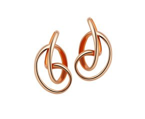 Sterling Silver & 18ct Rose Gold Vermeil Serenity Stud Earrings