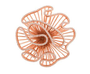 Sterling Silver & 18ct Rose Gold Vermeil Large Cascade Ring