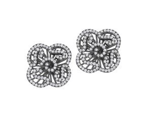 Sterling Silver & Black Rhodium Vermeil Mini Cascade Stud Earrings