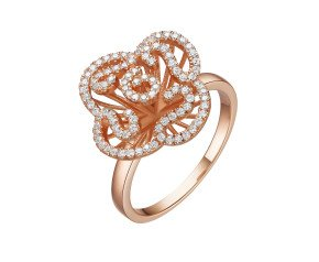 Sterling Silver & 18ct Rose Gold Vermeil Mini Cascade Ring