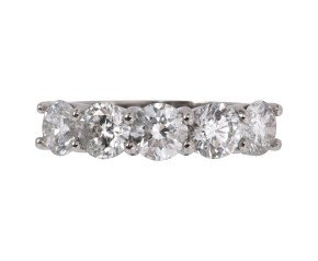 Platinum 2.40ct Diamond Five Stone Ring