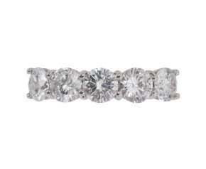 Platinum 2.37ct Diamond Five Stone Ring