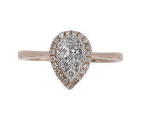 18ct Gold 0.33ct Diamond Cluster Ring