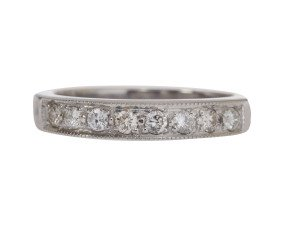 18ct White Gold 0.36ct Diamond Half Eternity Ring