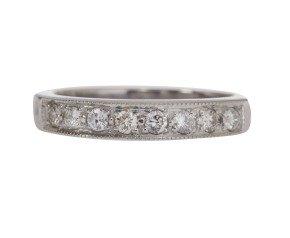 18ct White Gold 0.36ct Diamond Half Eternity Ring
