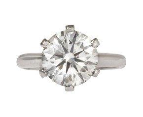 3.50ct Round Brilliant Cut Diamond IGI Certified Solitaire Ring