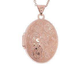 9ct Rose Gold Oval Locket