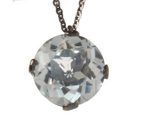 18ct Gold & Green Amethyst Whispering Small Round Pendant