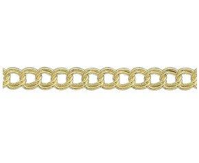 9ct Gold Double Curb Chain Bracelet