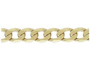9ct Gold Metric Curb Chain Bracelet