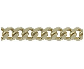 18ct Gold Heavy Filed Curb Chain Bracelet