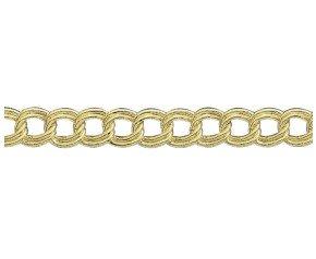 18ct Gold Double Curb Chain Bracelet