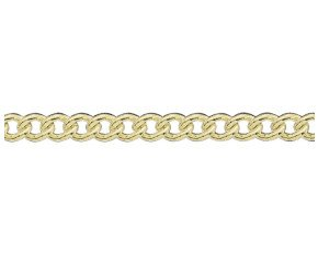 18ct Gold Heavy Close Curb Chain Bracelet