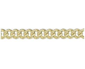 18ct Gold Heavy Close Curb ChainBracelet