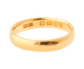 Vintage 1950's 22ct Gold Court 4.0mm Wedding Band